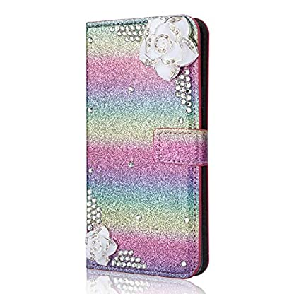 6City8Ni-Bling-Glitzer-Diamant-Magnetverschlu-Ledertasche-fr-Samsung-S8-Plus