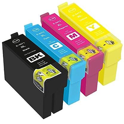 PlatinumSerie-Druckerpatronen-XXL-TE3471-TE3474-kompatibel-fr-Epson-Workforce-Pro-WF-3720DW-WF-3720DWF-WF-3725DWF-Black-je-30ml-Color-je-15ml
