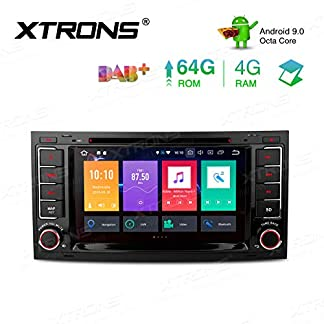 XTRONS-7-4GB-RAM-64GB-ROM-Octa-Core-Android-Autoradio-mit-Touchscreen-Android-90-DVD-Player-Autostereo-untersttzt-3G-4G-Bluetooth-DAB-OBD2-CAR-Auto-Play-TPMS-FR-VW-Volkswagen-Touareg