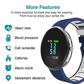 Blutdruck-Smartarmband-Fitnesstracker-NEWYES-NBS07-mit-SPO2H-Herzfrequenzmonitor-Schrittzhler-Kalorienzhler-Blutdruckmesser-Nachrichten-Remind-Schlafmonitor-fr-Android-iOS-Smartphone