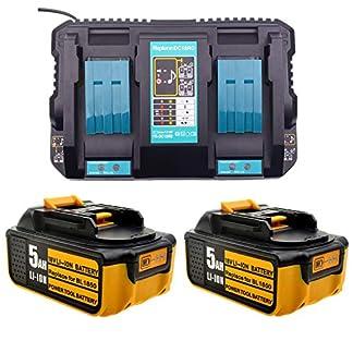 Ersatz-4A-2-fach-Dual-Schnellladegert-mit-2X-50Ah-18V-akku-fr-Makita-Kettensge-18Volt-DUC353Z-UC4041A-DUC-254-Z-DUC355Z-UC3041A-UC4551A-Kettensgenzubehr-batterie-und-ladegert