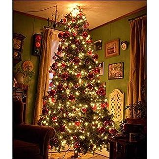 XIAOMEI-Einfache-Montage-Knstlicher-Weihnachtsbaum-Metall-Beine-688-Fu-Weihnachtskiefer-Mit-Ornament-ScharnierGrn