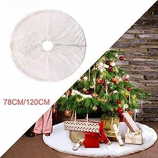 Yazidan-Baumdecke-Weihnachtsbaum-Rock-Christbaumdecke-Rund-Wei-Weihnachtsbaumdecke-Christbaumstnder-Teppich-Decke-Weihnachtsbaum-Deko-78Cm102Cm
