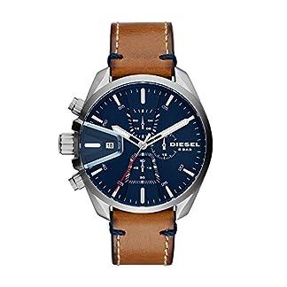 Diesel-Herren-Chronograph-Quarz-Uhr-mit-Leder-Armband-DZ4470
