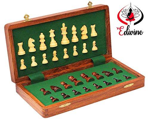 Holz-Magnetverschluss-faltbar-Schachbrett-mit-Speicher-Set-253-cm-X-253-cmPremium-quatily-Sheeshamwei-Holz-SchachHolz-Spielt-SchachReisespiele-magnetisch-Schach-Sets