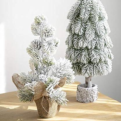 qwqqaq-Weier-Schnee-Beflockt-Tabletop-Weihnachtsbaum-Knstlicher-Christbaum-Mit-Holzsockel-Weihnachtsdekoration-Desktop-dekor-Ornamente
