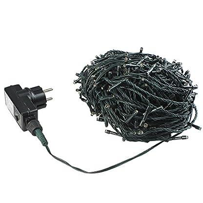 100-1000-LED-Lichterkette-Kette-Leuchte-auf-Dunkelgrn-Kabel-fr-Weihnachten-Baum-Garten-Hochzeit-Party