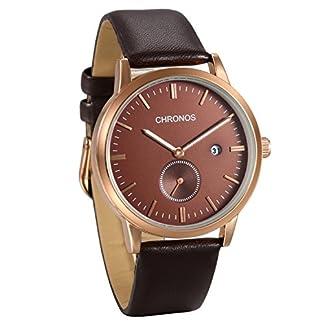 JewelryWe-Herren-Mnner-Armbanduhr-Einfach-Mode-Kalender-Analog-Quarz-Business-Uhr-Leder-Band-Quarzuhren-Schwarz-Braun