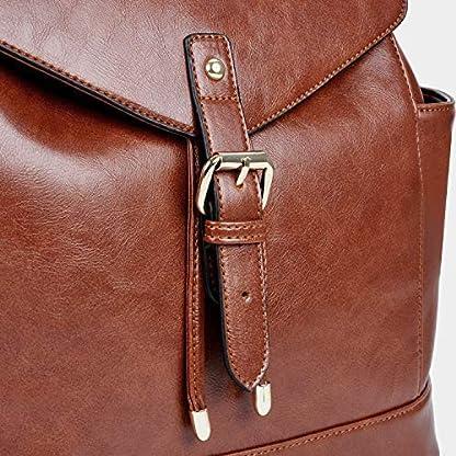 Damen-RucksackCoofit-Leder-Rucksack-Schulruckscke-PU-Leder-Reise-Daypacks-Tasche-Schulranzen