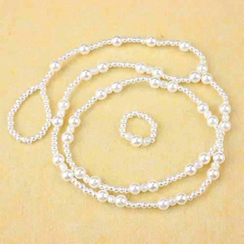 Malloom® Frauen Strand Imitation Perle Barfuß Sandelholz Fußschmuck Fußkettchenkette