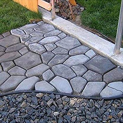 DIY-Einfahrt-Kunststoff-Pflaster-Pflasterstein-Steinform-Beton-Schritt-Pathmate-Mold-Paver-Garten-Dekoriert-Werkzeug-Schwarz