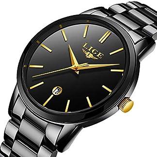 LIGE-Herren-Uhren-Wasserdicht-Mnner-Armbanduhr-Mode-Elegant-Geschft-Silber-Schwarz-Analoge-Quarz-Herrenuhr-fr-Mann-mit-Edelstahl-Kalendar-Freizeit-Armbanduhren-Uhr-Herren-Kleid