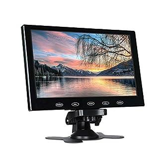 Haihuic-7-Zoll-LCD-Monitor-HD-800×480-Digital-TFT-Farbbildschirm-HDMIVGAAV-Eingang-Car-PC-Monitor-fr-Auto-Rckansicht-CCTV-Home-Security-mit-Fernbedienung