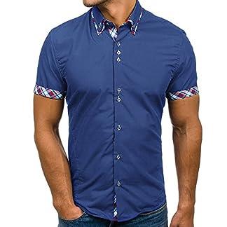 Basic-Langarmshirt-fr-MnnerLoveso–Herren-Mnner-Sommer-Herbst-Slim-Fit-Polo-Shirts-Freizeit-Hemd-Kariert-Drucken-Kontrast-Baumwolle-Trachtenhemd-Beilufig-T-Shirts-Tops-Bluse