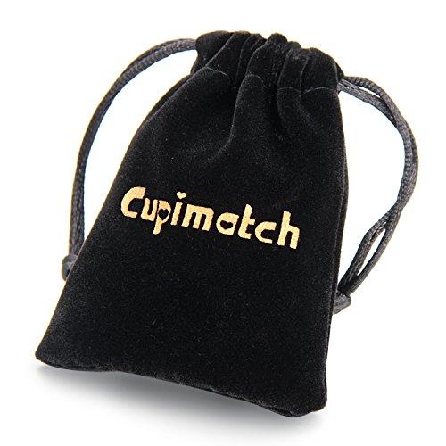 Cupimatch Damen Herren Ohrringe, 2 Paare Edelstahl Holz Lebensbaum Creolen Ohrstecker Set für Frauen Männer, silber braun
