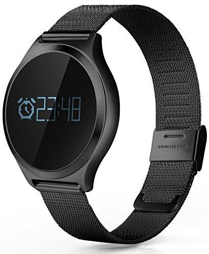 Smartwatch-Damen-Herren-Android-IOS-Herzfrequenz-Blutdruck-Bluetooth-Schrittzhler-Schlafanalyse-Schwarz-Rot-Silber-Fitness-Tracker