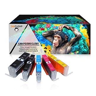 InkChimp-5-XL-Tintenpatronen-mit-Chip-kompatibel-fr-Canon-PGI580-CLI581-Pixma-TR8550-TS6150-TS6151-TS6250-TS8150-TS8151-TS8152-TS8250-TS9150-TS9155-TS9550-TR7550-PGI-580-CLI-581