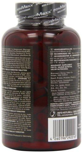 IronMaxx TT Ultra Strong – 100% Tribulus Terrestris / Pflanzliche Zink-Tabletten hochdosiert / Für einen natürlichen Testosteronhaushalt / Für Muskelaufbau und Kraftaufbau / 180 Tabletten
