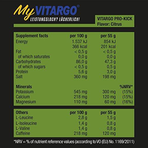 Vitargo PRO-KICK Box Citrus (990 g/18 Einzeltüten a 55g)