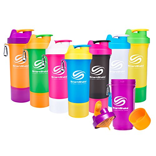 SmartShake 500 ml/18 oz, orange Slim neon, 1er Pack