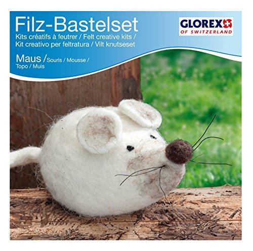 Glorex GmbH 6 2902 604 – Filz-Creativ-Set Maus 12 x 6 cm
