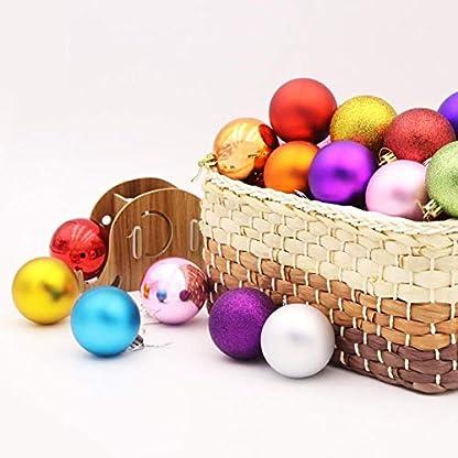 Urmagic-24-Weihnachtskugeln-Baumschmuck-Weihnachten-Anhnger-Deko-Weihnachtsbaumschmuck-Weihnachtsdeko-Kugeln-Weihnachtsschmuck-Aufhngen-Weihnachtskugel-Herz-Kugel-mit-Christbaumspitze4cm