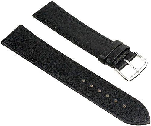 Ersatzband-Uhrenarmband-XL-Leder-schwarz-mit-Ton-in-Ton-Ziernaht-25610S-Stegbreite22mm