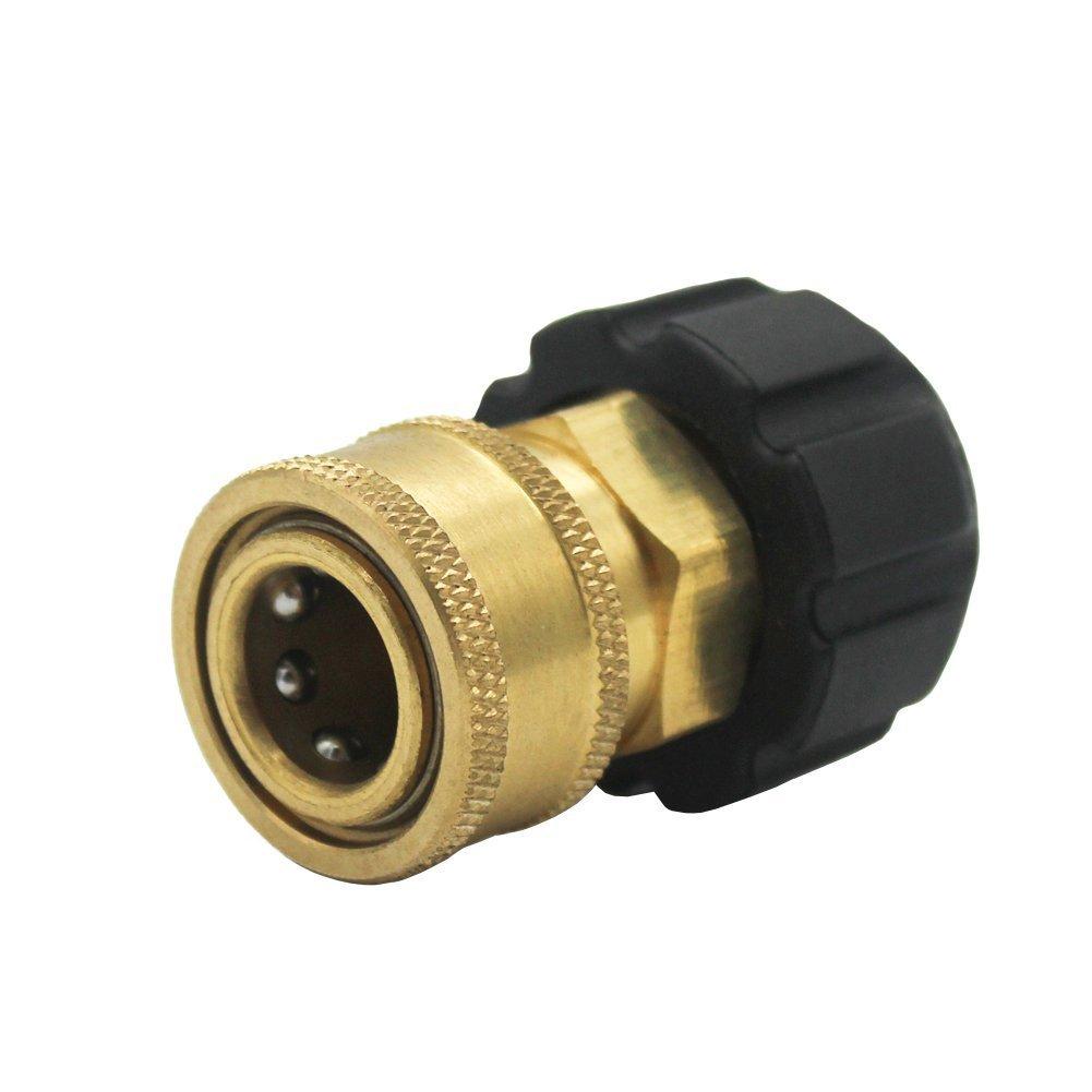 Futureyun-TWIS285-Schnellverbinder-NPT-auf-M22-14-mm-metrisches-Armatur-fr-Hochdruckreiniger-Pistole-und-Schlauch-095-cm