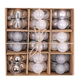 Victors-Workshop-Weihnachtskugeln-54tlg-3cm-Weihnachtsschmuck-Kugeln-Dekoration-zum-Weihnachtsbaumschmuck-gefrorener-Winter-Silber-Weiss-MEHRWEGVERPACKUNG