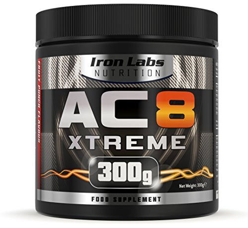 AC8 Xtreme   HARDCORE Pre-Workout Nahrungsergänzungsmittel   MAXIMUM STRENGTH, 20-40 Portionen   300 g (Frucht-Punsch)