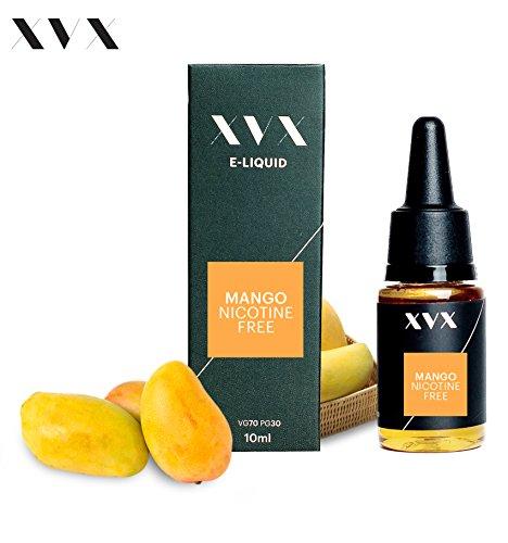 XVX E-Liquid  Mango Geschmack  Elektronisches Liquid Für E-Zigarette  Elektronische Shisha Liquid  10ml Flasche  Nadelspitze  Präzise Befllung  Wähle Deinen Lifestyle  Neu Für 2016  Digitaler Rauch  Nikotinfrei  Tabakfrei