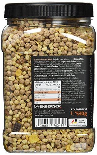 Layenberger LowCarb.one Protein Müsli Schoko-Nuss, 3er Pack (3 x 530 g)