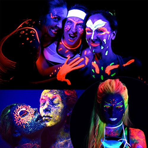 Renovo Farben Homepage Test März 2019: NUOLUX Gesicht Schwarzlicht-Körperfarbe Schminke 8