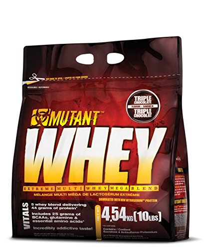 Mutant Whey – Chocolate – 4540g, 1er Pack (1 x 4.54 kg)