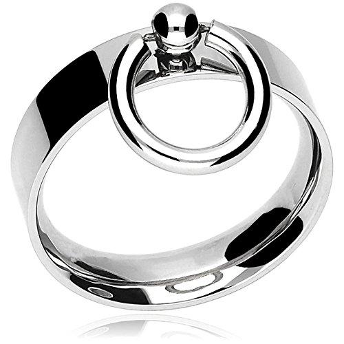 Edelstahl-Ring der 'O' schmal, fetisch Schmuck | 15-23 mm