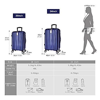 WindTook-Hartschalenkoffer-Trolley-Hartschale-Reisekoffer-Hardcase-Zwillingsrollen-TSA-Schloss