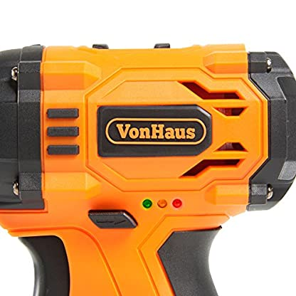 VonHaus-12V-Akku-Bohrschrauber-32-teiligem-Zubehr-Set-9-Bohreinstzen-Schraubendreher-12-Schraubendrehereinstzen-Hammer-Zange–inkl-Akku-Ladegert-Werkzeugtasche