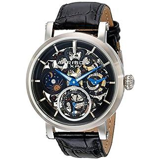 Akribos-XXIV-Herren-Analog-Mechanik-Uhr-mit-Leder-Armband-AK745SSB