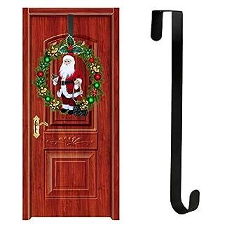 Gereton-Weihnachten-Tr-Hngende-Ornamente-Weihnachtskranz-Tr-hngende-Christbaumkugel-Haken-Kranz-Aufhnger