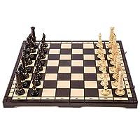 SQUARE-GAME-Schach-Schachspiel-ROYAL-LUX-Klassisch-65-x-65-cm-Schachfiguren-geschnitzt-aus-Holz