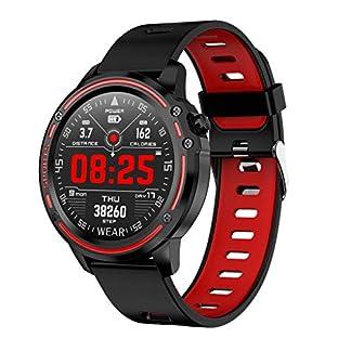 Wasserdichte-Smart-Watch-L8-IP68-Fitness-Armband-Uhr-fr-Mnner-und-Frauen-Fitness-Tracker-mit-Herzfrequenz-Schrittzhler-Schlaf-Monitor-Anrufbenachrichtigung-Kalorienzhler-UVM
