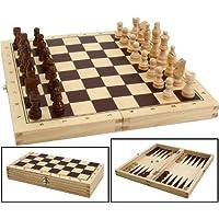 Schach-Dame-Backgammonspiel-aus-Holz-in-der-Klappbox