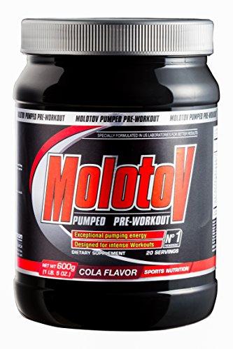 Anderson Molotow Pumped Pre-Workout Pulver orange Explosion 600g mit Tribulus, Arginin, Glutamin, Leucin, BCAA, Taurin, Alanin, Hmb, Citrullin, Koffein und Salz