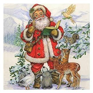 20-Stk-Weihnachtsservietten-3-lagig-33-x-33-cm-Weihnachtsmann