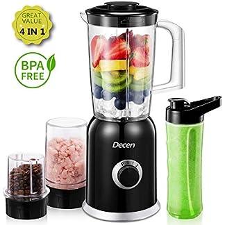 Standmixer-Decen-Blender-4-in-1-Multifunktion-Smoothie-Maker-Ice-Crusher-Kaffeemhle-mit-600ml-Sport-Flasche-BPA-frei-Tritan-Mixer-300W-24000UMin