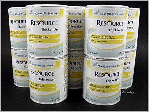 10x 227g ThickenUp von Nestle Health Science Andickungsmittel – Andickungspulver – im exclusiven ConsuMed Bundle