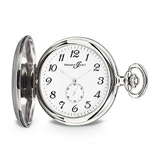 Hermann-Jckle-Freiburg-Quarz-Taschenuhr-mit-dezentraler-Sekunde-incl-Kette-und-Uhrenbox