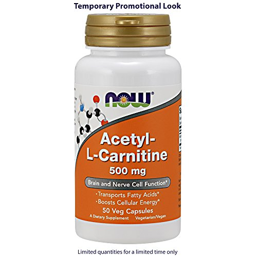 Now Foods Acetyl-L Carnitine, 50 Caps 500 mg