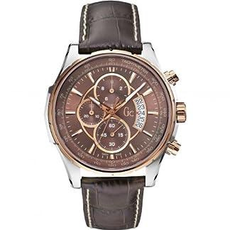 Guess-Herren-Chronograph-Quarz-Uhr-mit-Leder-Armband-X81002G4S
