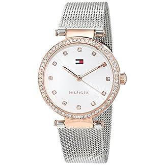 Tommy-Hilfiger-Damen-Datum-klassisch-Quarz-Uhr-mit-Edelstahl-Armband-1781863